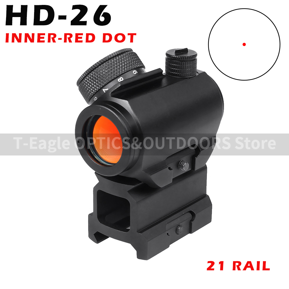 HD-26 Hunting Rifle Scopes Airsoft Tactical Holografische Optische Red Dot  Scope 20mm Rail Chasse Caza Luneta Para Rifle