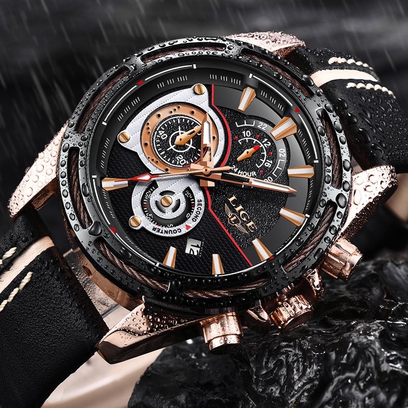 32d3d6e3d LIGE NEW MENS WATCHES TOP BRAND LUXURY QUARTZ WATCH