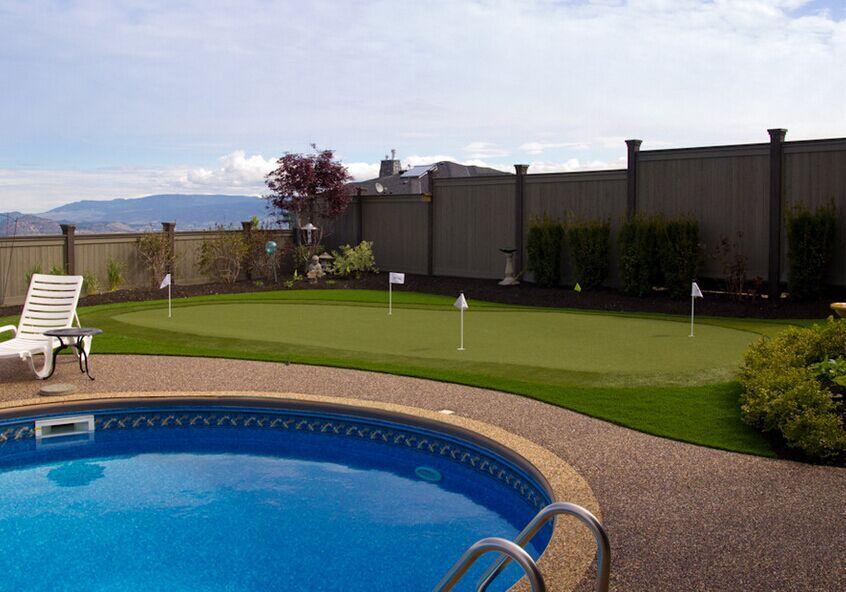 Плавання навколо міні-гольф покласти зелений гра