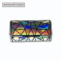BAO BAO Women Fashion Long Clutch Wallet Diamond Lattice Standard Wallets Unisex PU Long Purse Free