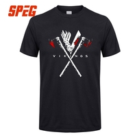 T Shirt Men The Amazing Vikings Logo Viking Valhalla Son Of Odin Vintage Man 100 Cotton
