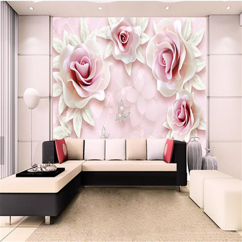 Custom Photo Wallpapers 3D Wall Murals Luxury Diamonds Wall Papers for Walls 3D Modern Living Room Bedroom Home Decor Flowers sea world 3d wallpaper murals for living room bedroom photo print wallpapers 3 d wall paper papier modern wall coverings
