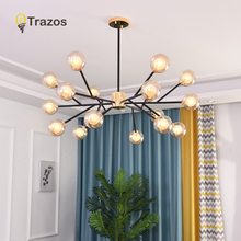 TRAZOS Black LED Ceiling Lights With Cognac Lampshade For Living Room Round Corridor Mounted Bedroom Lighting Fixtures