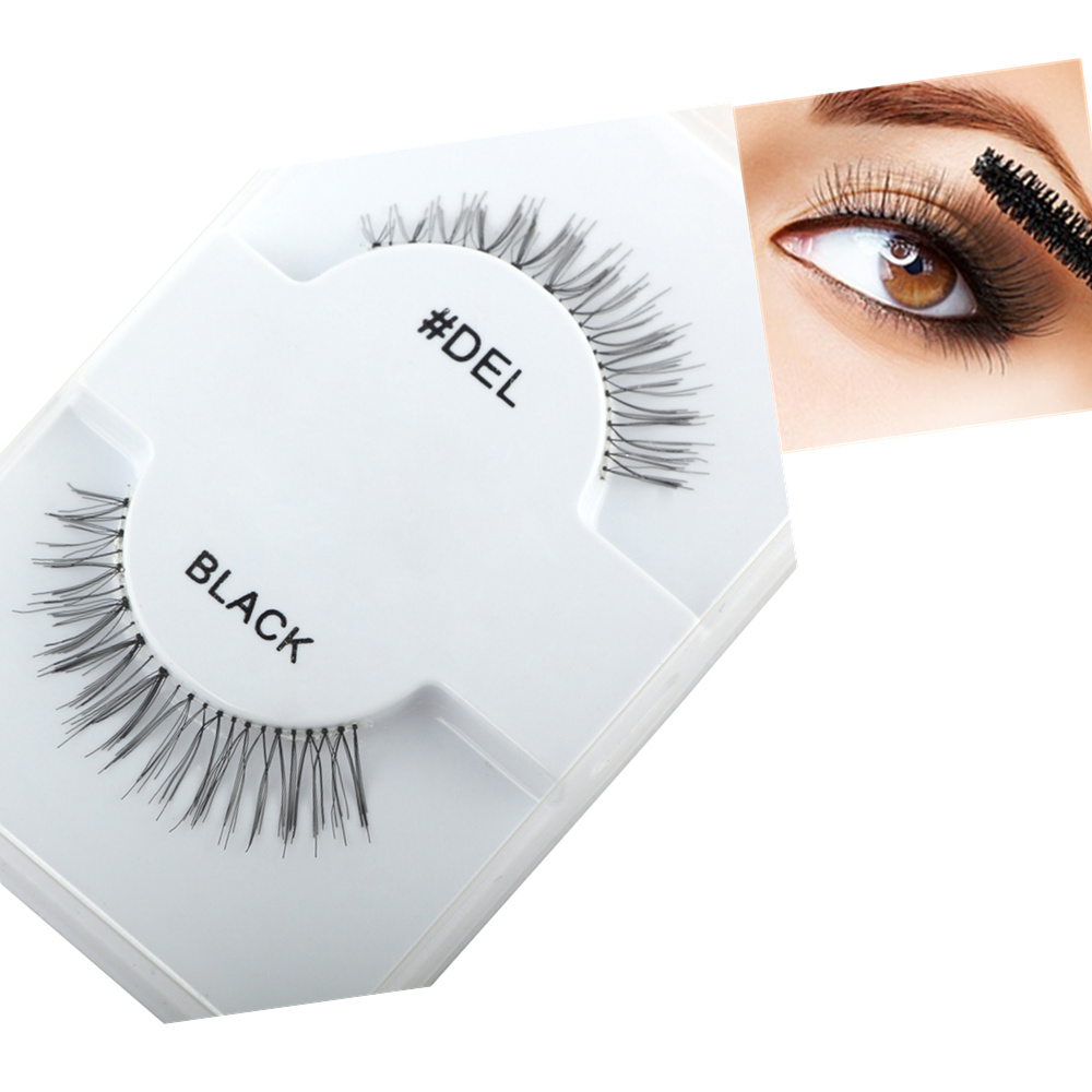 Cross Slim Thick Eye Lashes Pure Handmade Cotton Stems False Eyelashes Naturally Short Paragraph Daily Makeup Fake Eyelashes