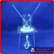Beaker+Tripod+Asbestos free wire gauze+Alcohol lamp+Stem thermometer+Glass rod(6 pieces of goods)The chemical experiment device