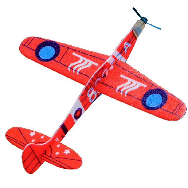 20CM Fashion Hand Throw Flying Glider Planes Foam Aircraft Model Creative DIY Outdoor Toys For Children Funny Kid Gift Toy