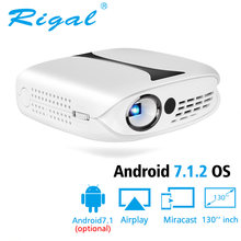 Rigal RD606 Mini LED DLP Projector Optional HD WiFi Android 7.1 Pocket Pico Projector Battery Support 1080P 3D Phone USB Beamer(China)