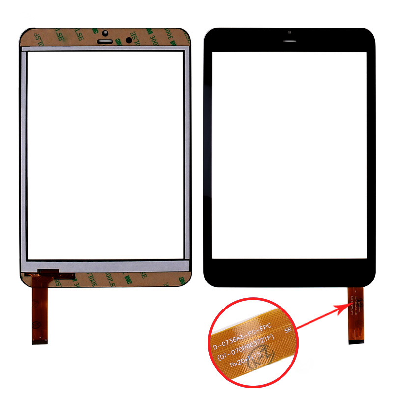 Black 7.85 Touch Screen Digitizer Replacement For Oysters T82P 3G Tablet PC replacement lcd digitizer capacitive touch screen for lg vs980 f320 d801 d803 black