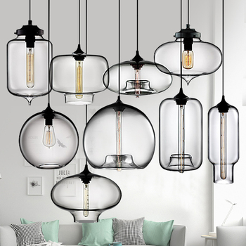 Modern 3 Lights Clear Amber Glass Pendant Lamp E27 LED Hanging Lights For Dining Room kitchen Restaurant Suspension Luminaire fumat stained glass pendant lamp antique style baroque glass body flower shade restaurant suspension lampe hotel project lights