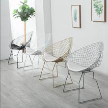Hollow iron wire chair iron creative personality dining chair simple leisure chair now