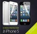 20 PÇS/LOTE = 10 pcs Frente + 10 pcs Voltar HD Claros Films Glossy protetor de tela lcd guarda film para apple iphone 5 5s 5g quente venda
