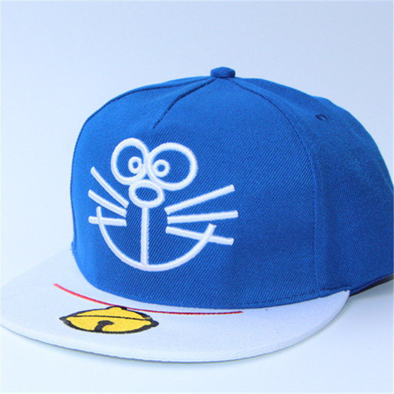 2017 Hot Cartoon Cap Doraemon cap Jingle cat Embroidered Wild Baseball Cap bone masculino Women Cartoon Cap Wholesale