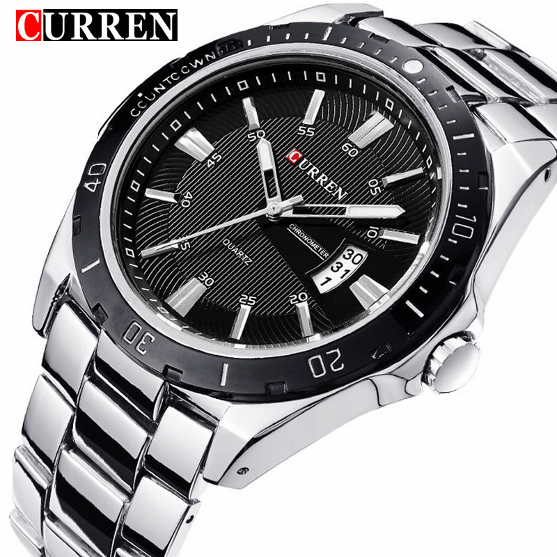 NEW CURREN Watches Men Top Brand Fashion Watch Quartz Watch Male Clock Relogio Masculino Men Army Sports Analog Casual Watches