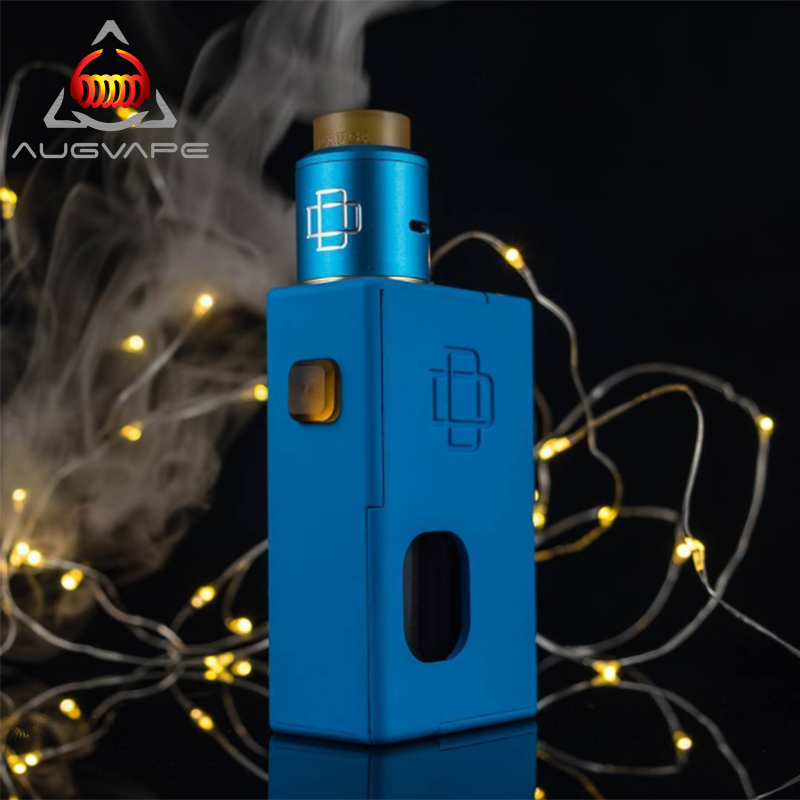 Augvape Original Electronic Cigarette Squonker Box Mod Kit with Druga 22mm RDA Atomizer Vape Cigarette Power by 18650 Battery electronic cigarette 230w original rev gts mod temperature control box vape mod dual 18650 battery vape with ecigs atomizer rda