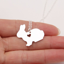 Bunny Necklace Peter Rabbit Pet Little Girls Cute Choker Women Necklaces & Pendants Christmas Gift Stocking Stuffer Lead Free