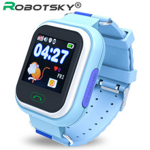 Baby Smart Watch GPS Positioning Fashion Children Smart Watch 1.22 inch Color Touch Screen SOS one key help with a 3D sensor(China)