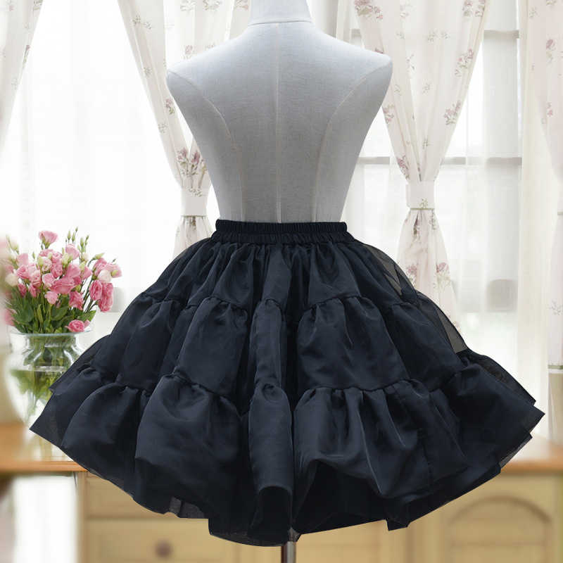 Nero Voile Ruffle Fluffy Ball Gown Rockabilly Sottogonna Lolita Petticoat Gotico Gonna Tutu Pettiskirt Donne Dance Club Wear