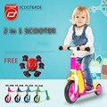 2 в 1 Kick Скутер Баланс Велосипед 360 Градусов Вращения 2-3 Лет два колеса дети скутер