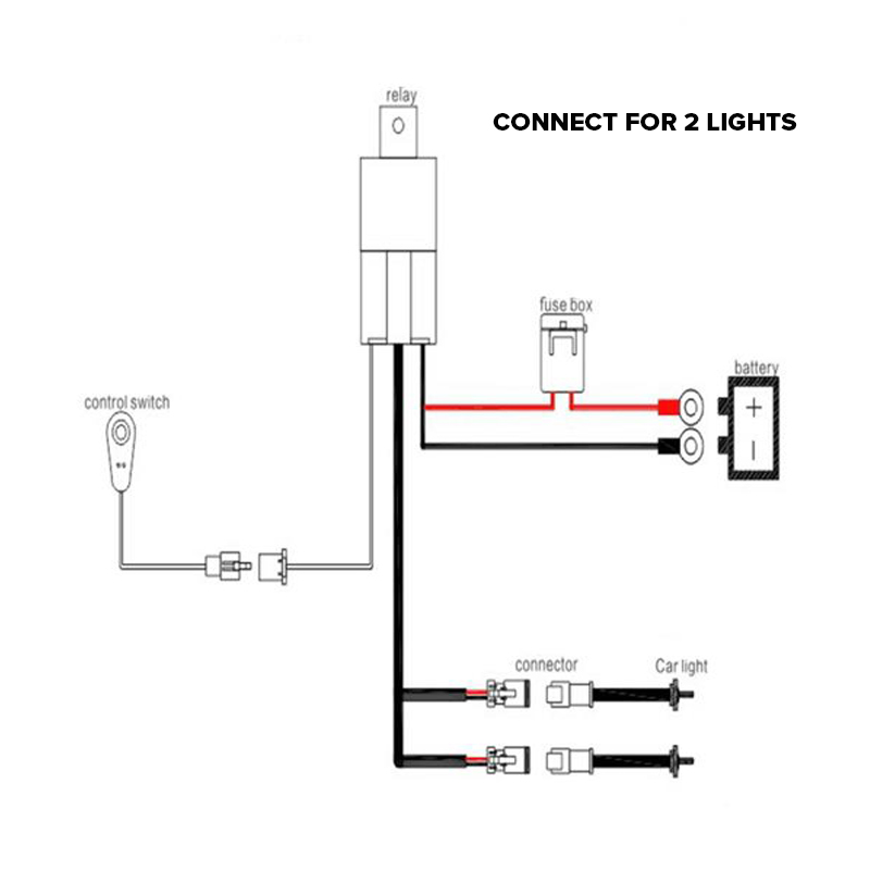 Auxbeam Car Cable Harness Loom Wiring Extension Cable Kit for LED Work Driving Light Fog Lamp diagrams 470205 driving light wiring diagram wiring diagram ( driving light wiring harness diagram at edmiracle.co