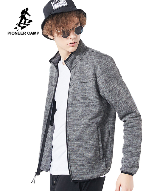 Pioneer Camp new arrival male jacket brand-clothing casual autumn spring men coat top quality black grey AJK801385