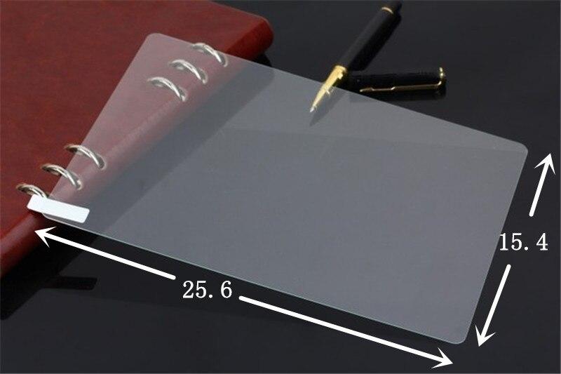 imágenes para 2 Unids/lote 10 pulgadas 10.1 pulgadas Universal Protector de Pantalla de Cristal Templado de Cine Para Tablet, 25.6*15.4 cm + Paño + Polvo Absorbente