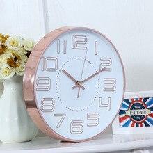 Luxury Silent Dd font b Wall b font font b Clock b font Modern Design Plastic