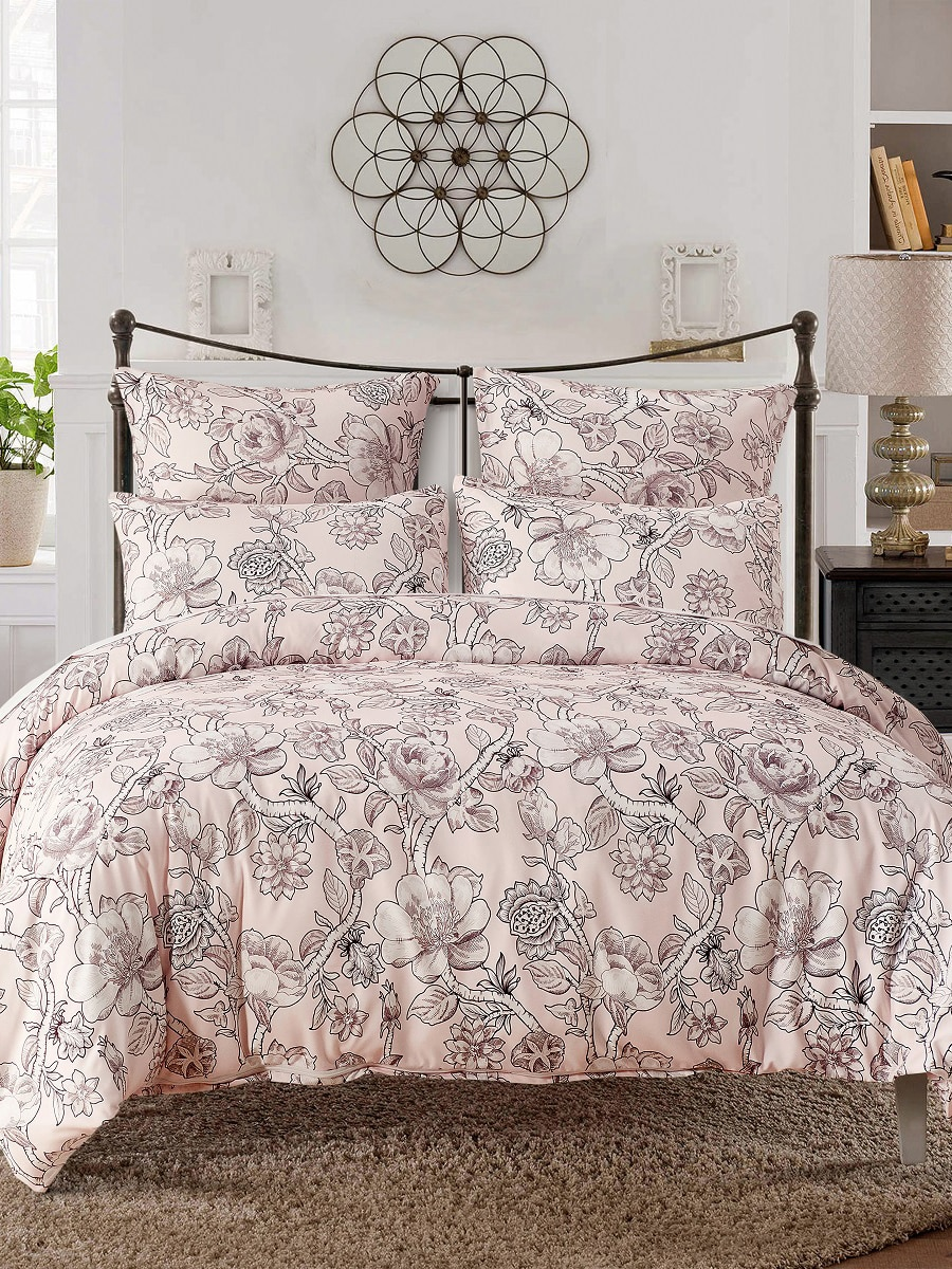 2/3pcs Floral Pattern Bedding Set Duvet Cover And Pillowcases Set 2/3pcs Floral Pattern Bedding Set Duvet Cover And Pillowcases Set