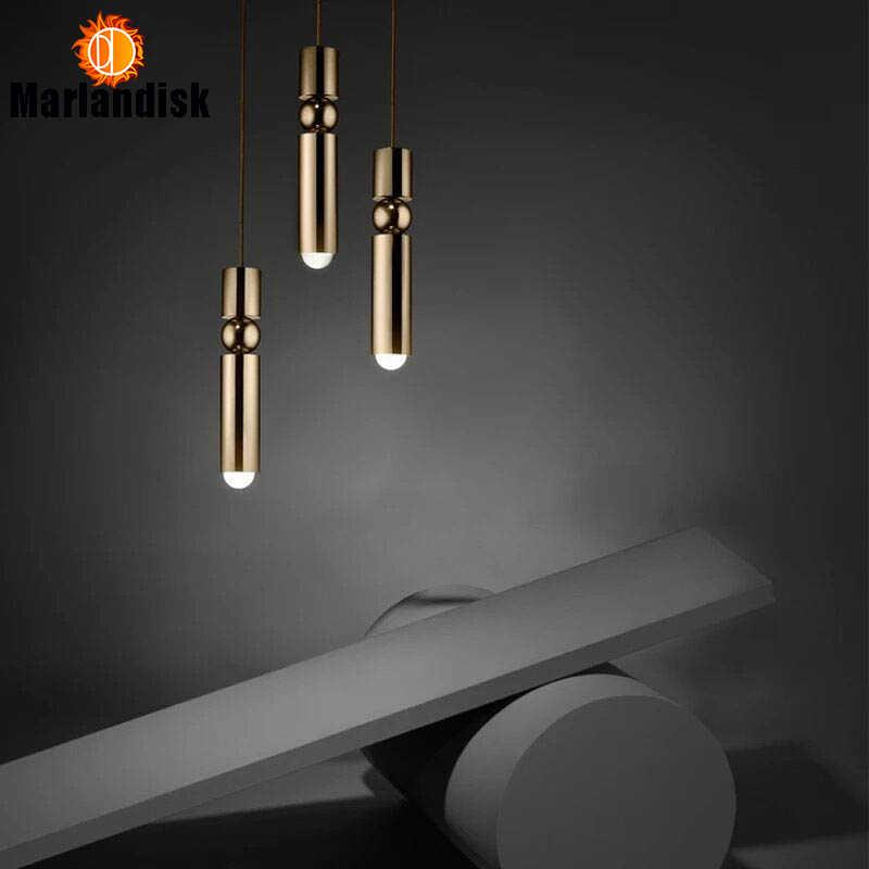 1 個径 6 センチメートル E27 ゴールドチューブ状アルミぶら下げライトホテルホール店商業 LED ペンダントランプライトハンギング (DZ-50)