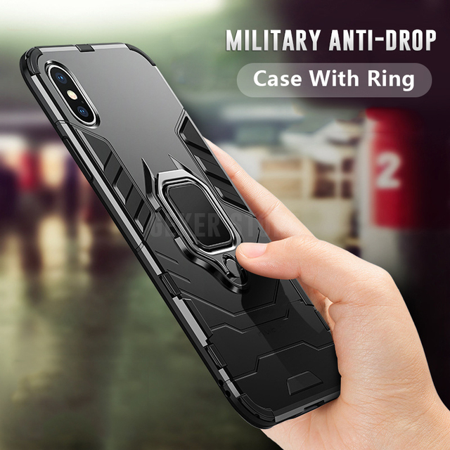 Luxury Military grade Shockproof armor case For iPhone XS