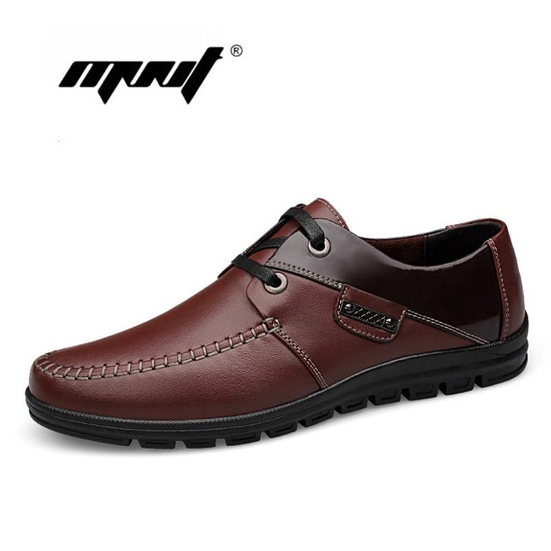 Handgjorda Män Skor Äkta Läder Män Lägenheter Skor Plus Storlek Högkvalitativa Män Loafers Mockasiner Mjuk Läder Zapatos Hombre