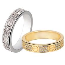 2016 Carter Rings For Women Unisex CZ Diamond Jewelry White/18K Gold Plated Finger Rings for Men Women Wedding Engagement Ring