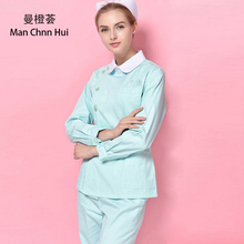 Medical clothing for women Hospital stomatology Slim female nurse summer overalls shirt + pants beauty salon Reception uniform