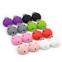 Baby Safe Silicone pacifier clip 8 colors Food Grade Silicone Clip Charms For Pacifier Clip Chain Making