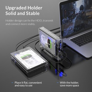 Image 3 - ORICO 3.5 inch SATA to USB 3.0 HDD Case with Holder Support 12TB Max Transparent Hard Drive Enclosure