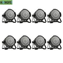 8 шт./лот 24x12 вт светодиодный прожектор par RGBW 4 в 1 плоский светодиодный прожектор par dmx512 профессиональные сценические прожекторы для диджея