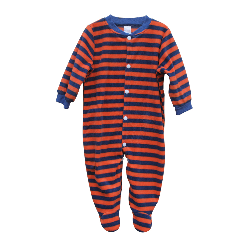 Unisex Spring Baby Rompers Fleece Newborn Baby Clothes Long Sleeve Striped Cartoon Infant Jumpsuit Toddler Kids Summer Costume