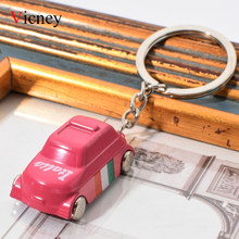 Vicney Pink Italy Car Keychain Italy Flag Pattern Cute Car For Women High Quality Zinc Alloy Keyring For Bag Charm Girl Jewelry(China)