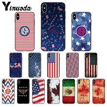 44abb18b696 Funda de teléfono de alta calidad para iPhone X XS MAX 6 6 s 7 con bandera  de Yinuoda América EE. UU. Canadá México 7 plus 8 8 P..