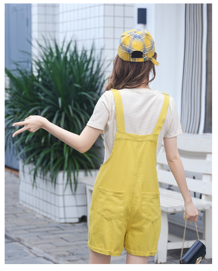 2019 Summer Striped T-shirt + Denim Shorts Schoolgirl Suit - Fresh, Loose And Slimming Two-piece Suit