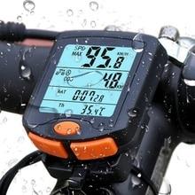 Новый велосипед велосипеда компьютер Спидометр цифровой одометр секундомер термометр ЖК-дисплей Подсветка непромокаемые Таблица P5