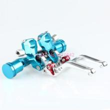 Cnc Motorcycle Handle Bars Brake Levers Clutch Aluminum Alloy Universal Blue MT-6572