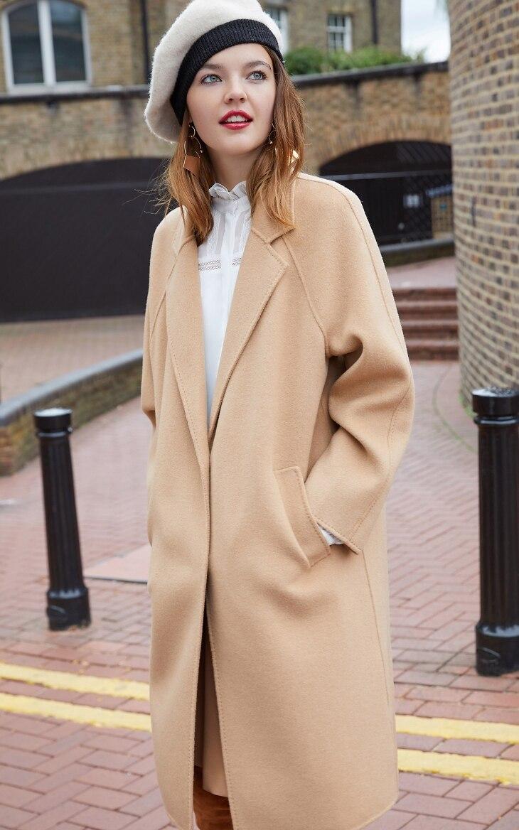 Vero Moda Women's new 100% wool double-sided single buckle minimalist woolen overcoat | 318327505 20