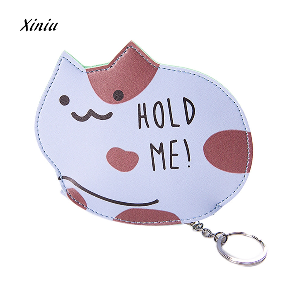 Cute Cat Coin Purses Women Girl Fashion Snacks Bag Ladies Coin Purse Wallet Zipper Small Change Pouch Key Holder Bags Carteira women girls cute fashion snacks coin purse wallet bag change pouch key holder dropshipping y