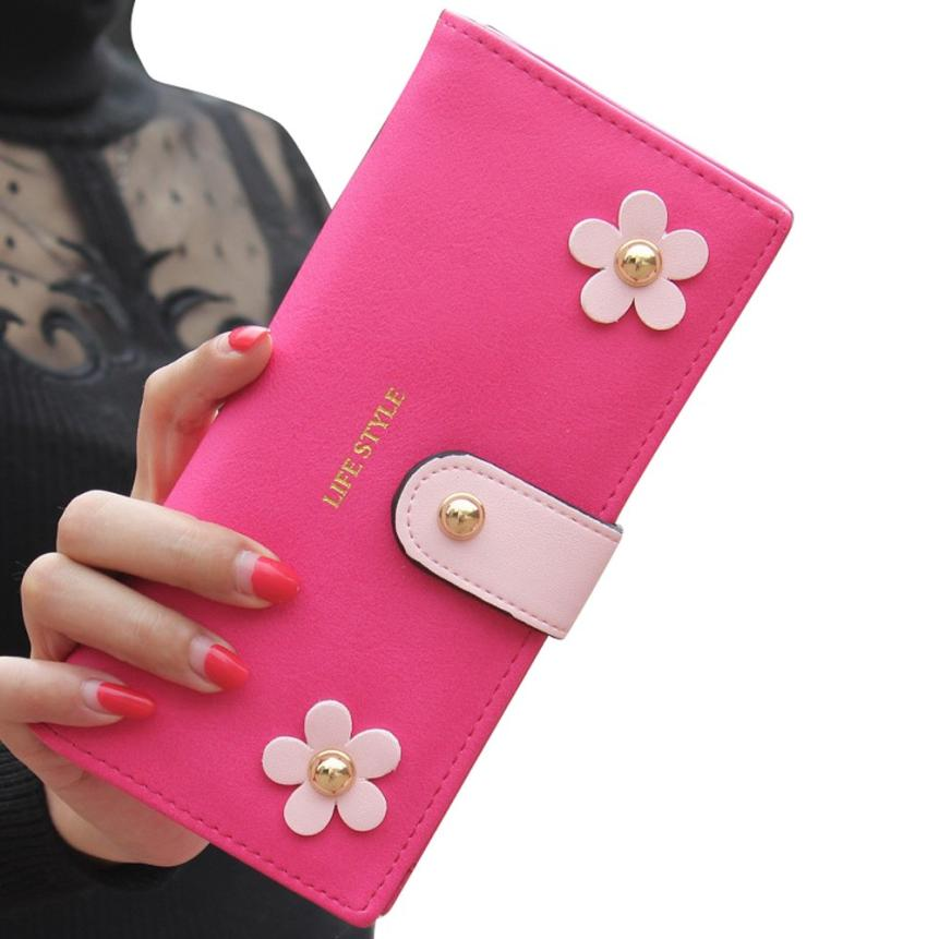 2017 New Fashion Women's Wallet Dollar Price Women Clutch Long Purse Leather Wallet Card Holder Handbag purse female Wholesale 2016 new arriving pu leather short wallet the price is right and grand theft auto new fashion anime cartoon purse cool billfold