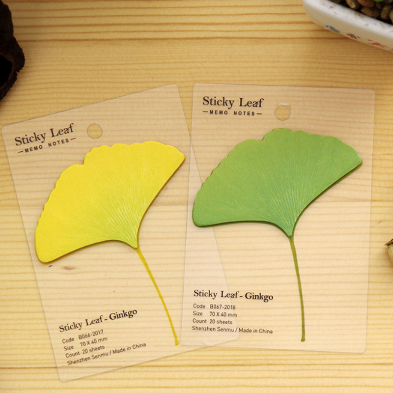 Free Shipping Cute Kawaii Memo Pad Creative Leaf Post It Note For Kids Gift Novelty Item Korean Stationery
