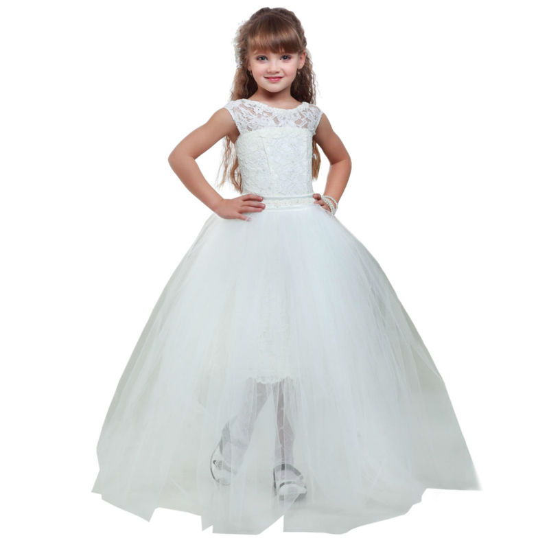Ball Gown Flower Girls Dresses For Wedding Gowns Kids Evening Gowns Lace Girls Clothes Pageant Dress Mother Daughter Dresses new dubai girl s pageant dresses crystals blue lace ball gown glamorous kids pageant dress flower girls gowns for wedding
