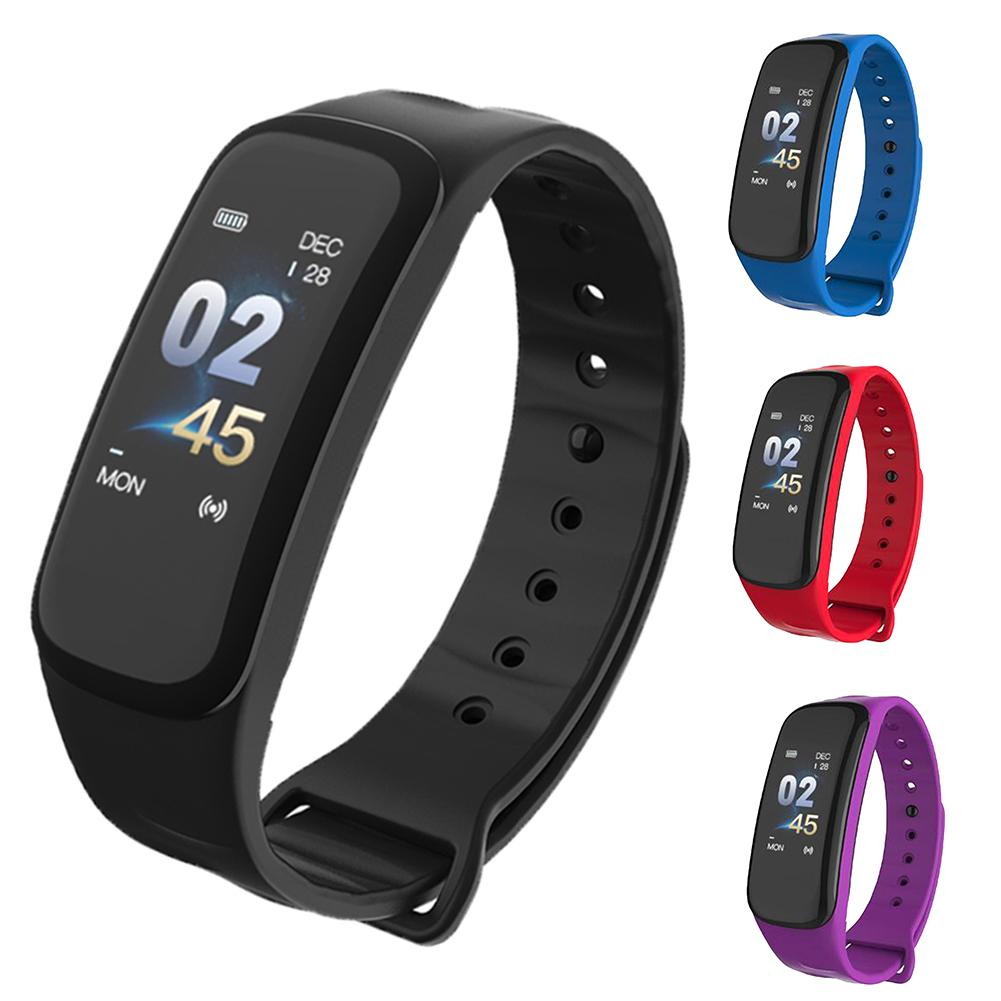 New Color Screen Bluetooth Heart Rate Monitor Fitness Tracker Smart Sport Bracelet Color Screen Bluetooth Heart Rate