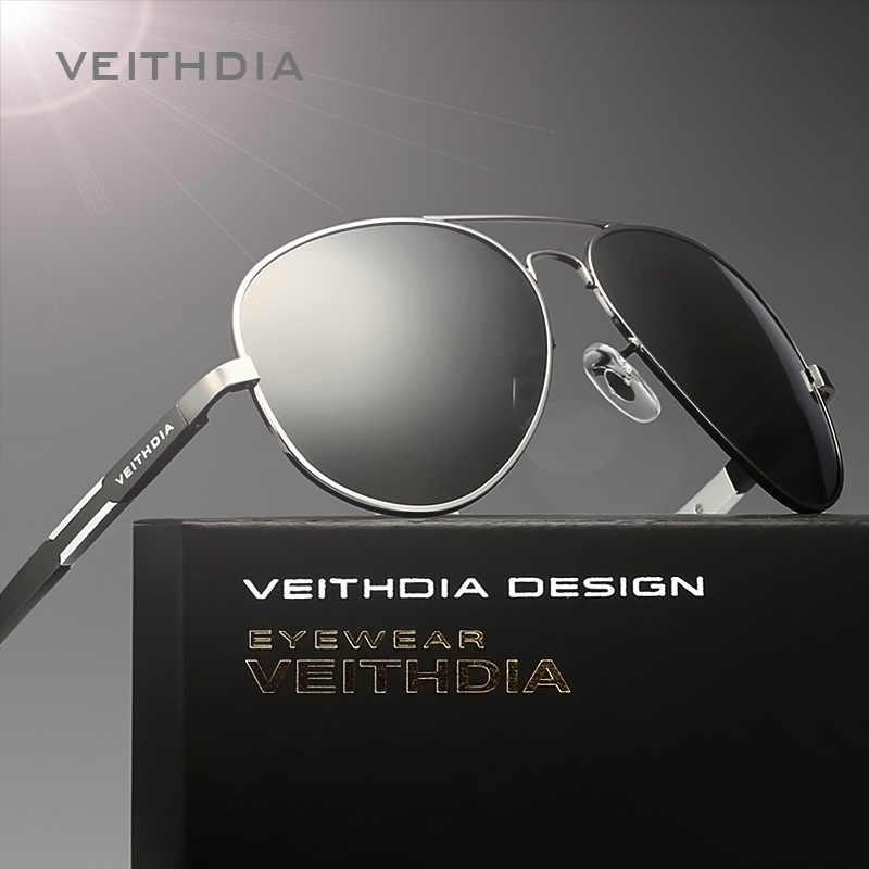 VEITHDIA อลูมิเนียมแมกนีเซียม Polarized Mens แว่นตากันแดด Sun แว่นตาแว่นตาชายสำหรับชาย oculos 6695