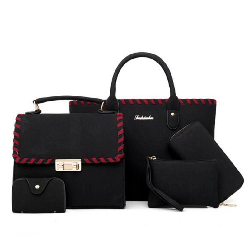 Women Bag Set Top-Handle Big Capacity Female  Handbag Fashion Shoulder Bag Purse Ladies PU Leather Crossbody Bag  X386