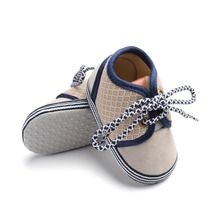Fashion Newborn Baby Boys Shoes First Walkers Ventilation Net Surface Canvas Crib Soft Sole Shoes 0-18 Months